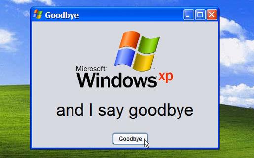 Adios al soporte para Windows XP