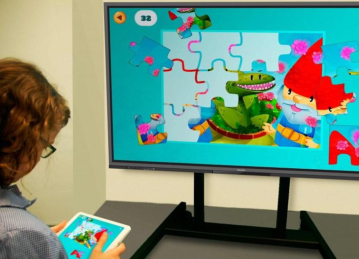 Los monitores interactivos son ideales para la educación