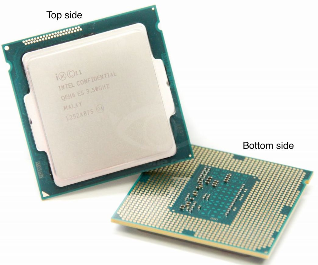 CPU: parte superior e inferior