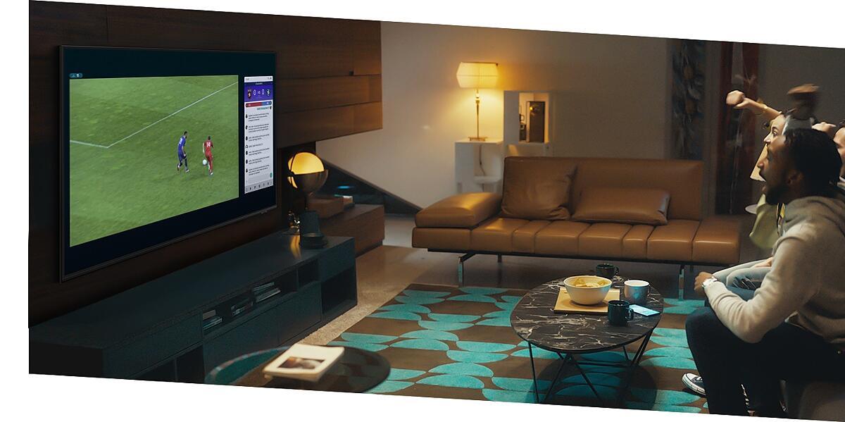 La Samsung QLED 4K de 43 pulgadas permite dividir la pantalla en pequeñas pantallas