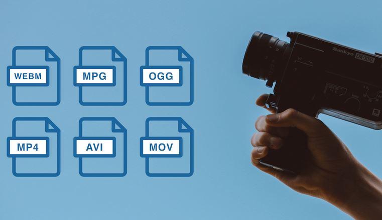 Los vídeos se pueden guardar en diferentes tipos de formato de vídeo