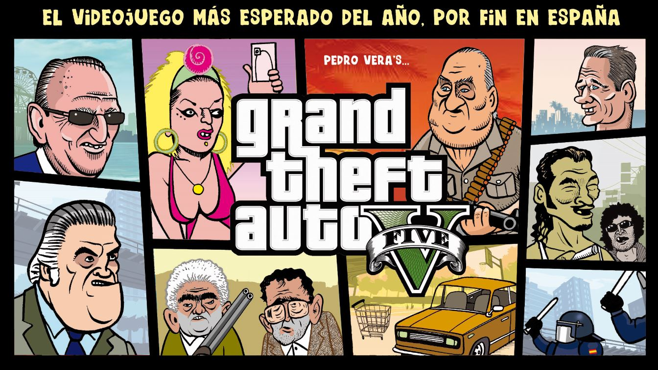 Encabezamiento de una serie de #ranciofacts de tres páginas sobre Grand Theft Auto